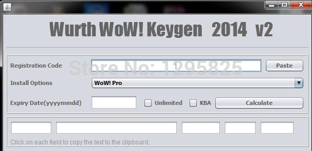 Wurth WoW universal keygen 2014 v2 30 license KEy