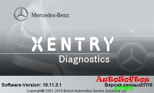 Xentry Diagnostic Open Shell XDOS 07/2016