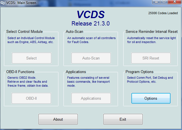 Программа VCDS