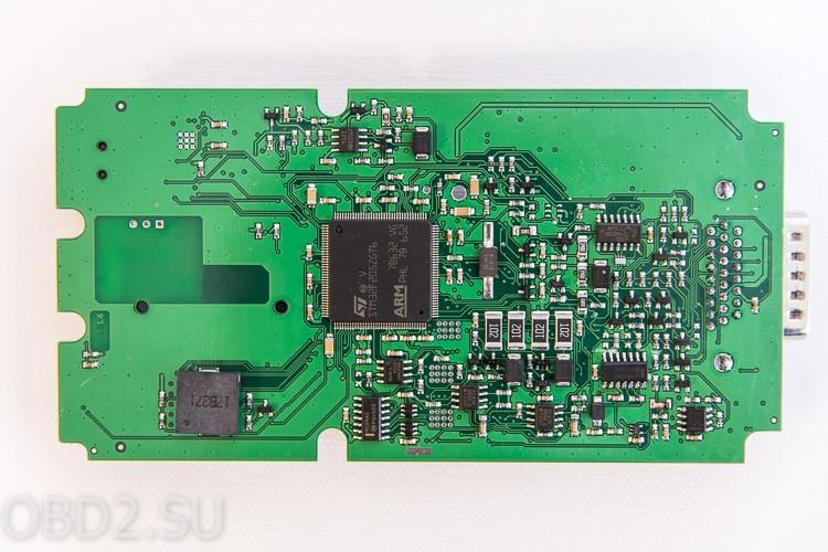Фотография платы одноплатного Delphi DS-150E (вид снизу)