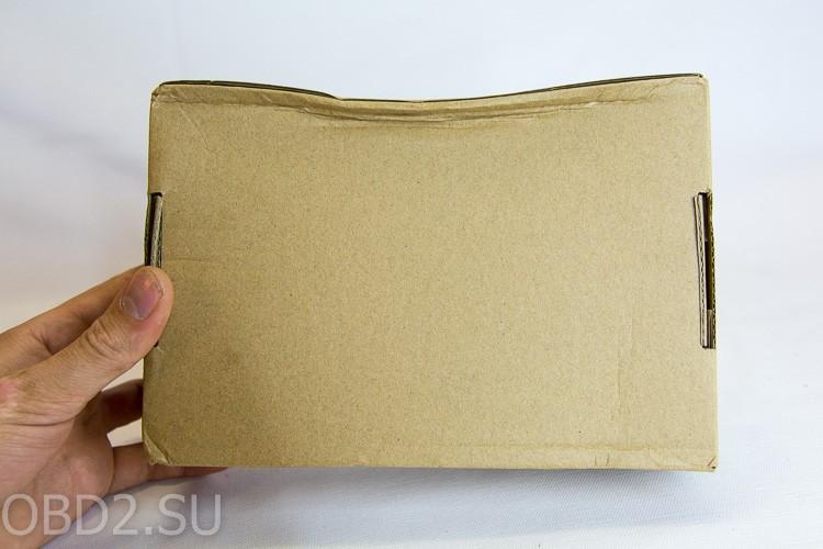 Коробка с Delphi DS-150E немного помята