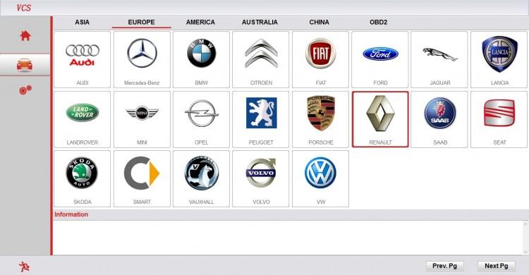 Super VCS скриншот европейских марок доступных в программе