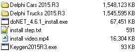 Содержание диска Autocom/Delphi 2015.3