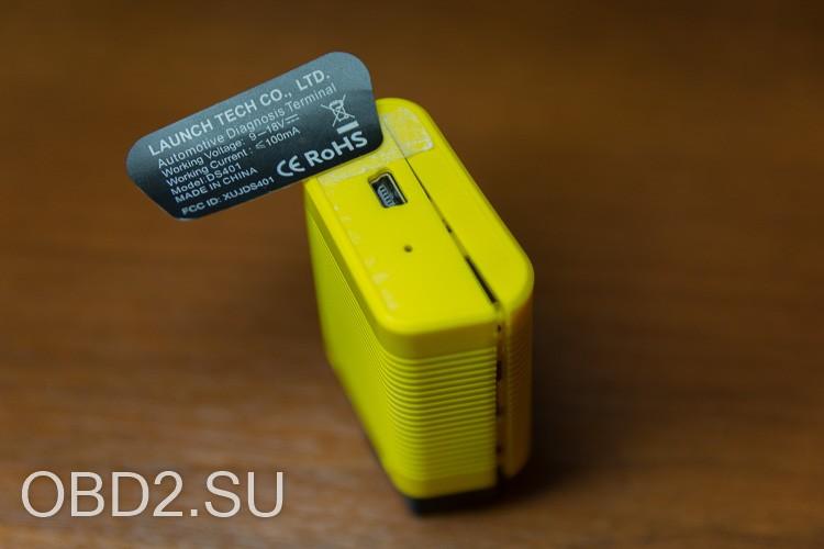 LAUNCH EasyDiag 3.0 отклеивание наклейки на задней части устройства