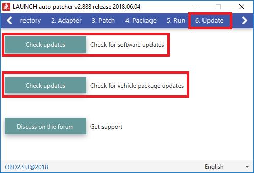 LAUNCH auto patcher проверка обновлений программы