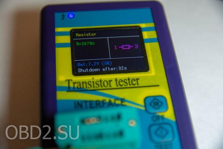 Универсальный тестер транзисторов - тестирование сопротивления