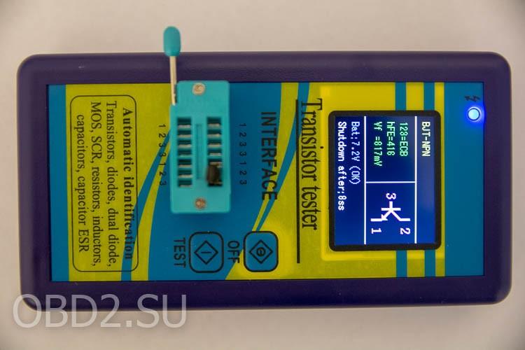 Универсальный тестер транзисторов - пройдено тестирование биполярного транзистора