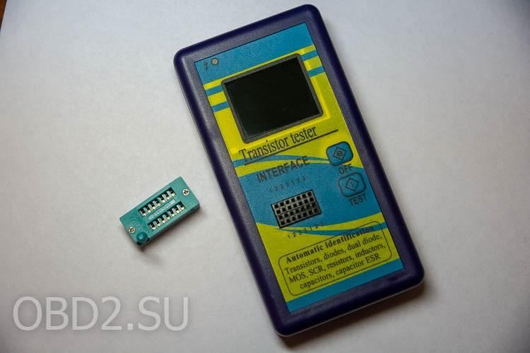 Универсальный тестер транзисторов в комплекте с зажимной панелькой