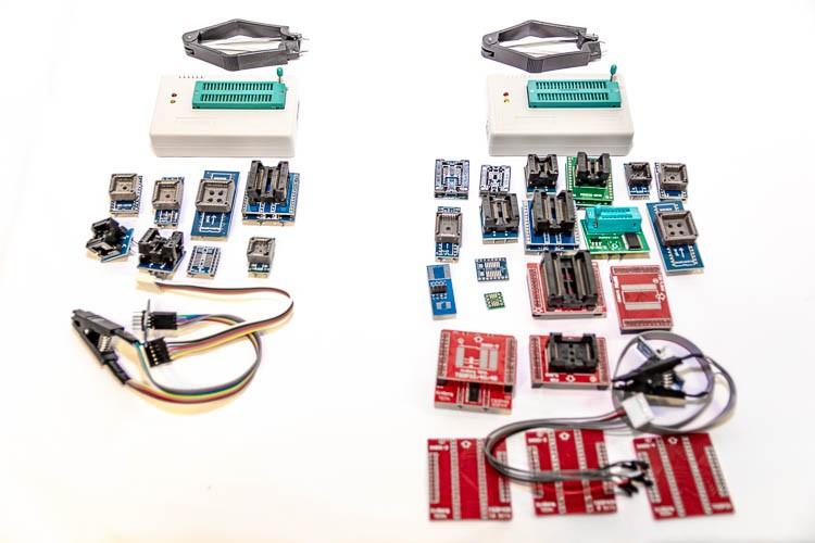Сравнение комплектов поставки TL866A и TL866II Plus