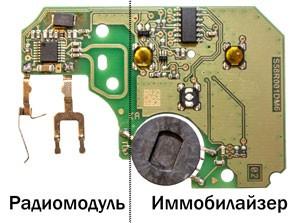 Устройство ключа-карты Renault Megane 2, Scenic 2