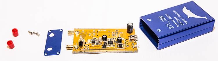 RTL SDR RTL2832U + R820T2 приемник в разобранном виде