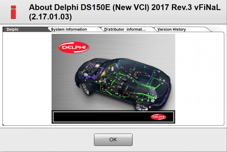 Autocom / Delphi 2017R3 Final скриншот окна о программе