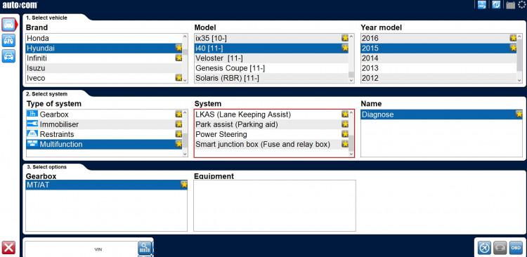 Autocom hyundai i40 2015 multofunction